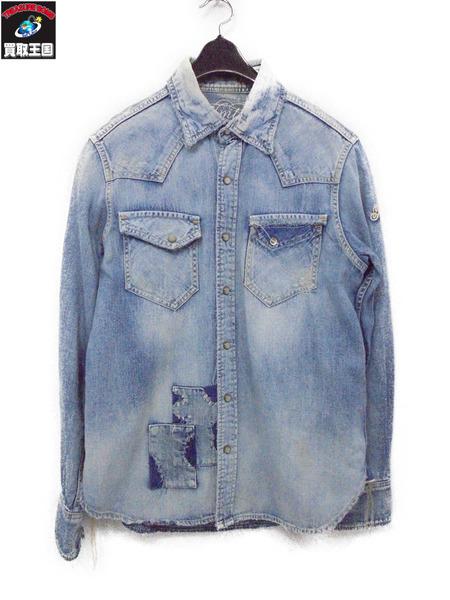 TMT 13SS クラッシュデニムシャツ サイズS【中古】[値下]