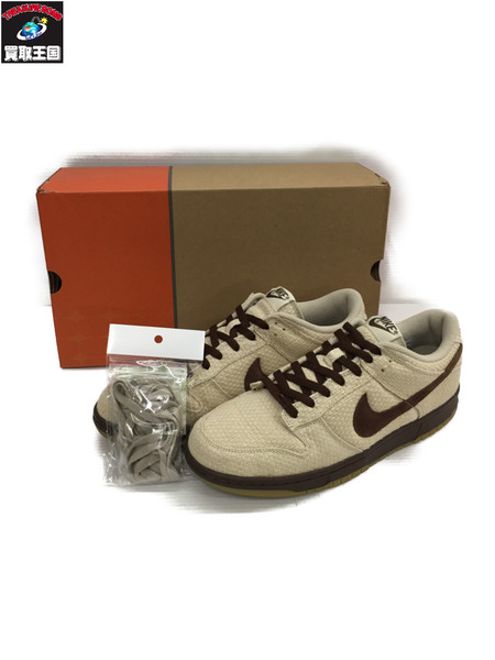 NIKE DUNK LOW PREMIUM HEMP net/midium brown 2005年製 30.0cm 【中古】[▼]