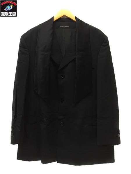 Yohji Yamamoto POUR HOMME テーラードジャケット sizeS BLK【中古】