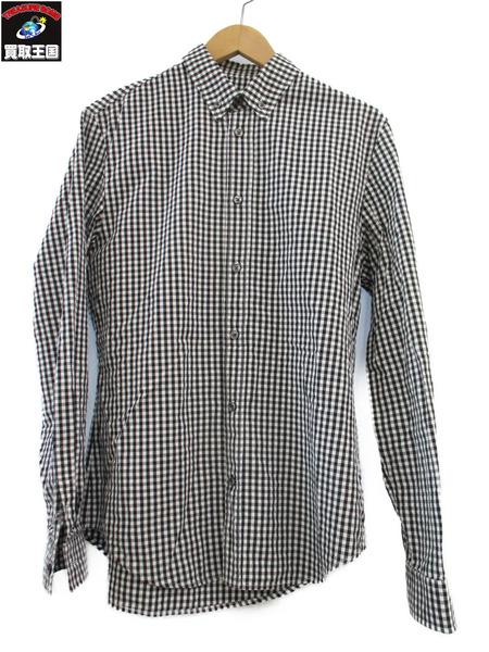 MAISON MARGIELA 17SS ギンガムチェック ボタンダウンシャツ【中古】