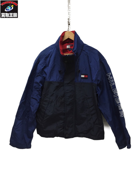 TOMMY TOMMY HILFIGER 90'S ロゴスリーブナイロンジャケット ブルー【中古】 M ブルー【中古 90'S】, 宮代町:64c972d5 --- finfoundation.org