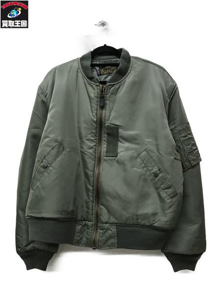 SILVER STONE シルバーストーン 希少MA-1ジャケット(L)オリーブ【中古】