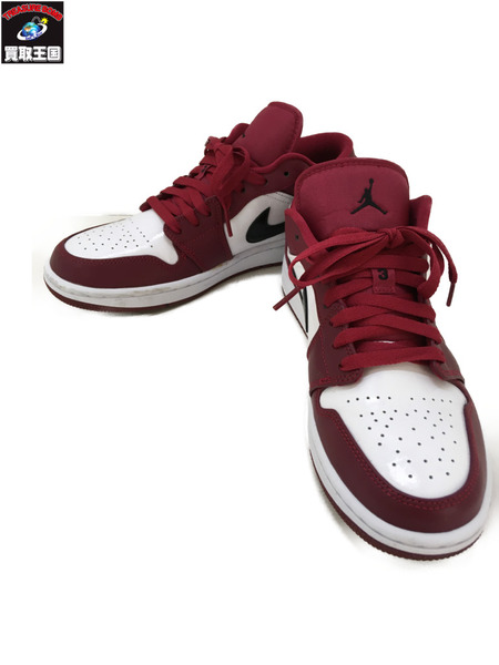 NIKE AIR JORDAN 1 LOW NOBLE RED 26.5cm 553558-604【中古】