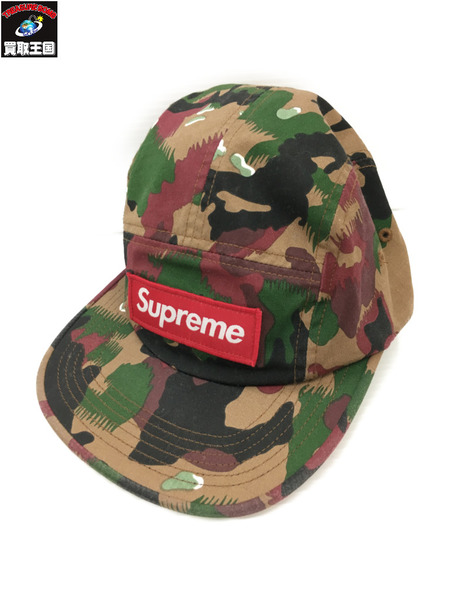 Supreme 2017ss Military Camo Camp Cap 【中古】