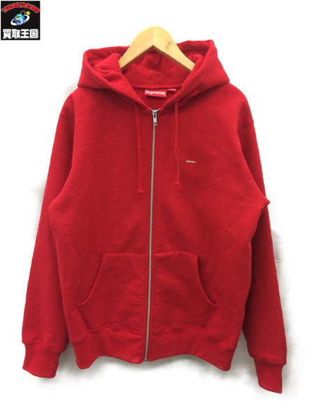シュプリーム Supreme 17AW Small Box Zip Up Sweatshirt (M) 赤【中古】