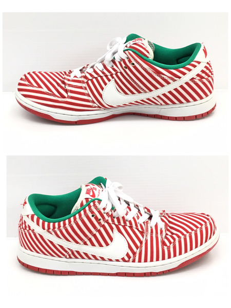 meet 3732f 69585 NIKE SB DUNK LOW PREMIUM SB CANDY CANE (28.5) red X green