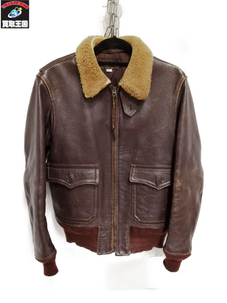 The REAL McCOY'S Mfg Co/G-1 FLIGHT JACKET/フライト/レザー/36【中古】