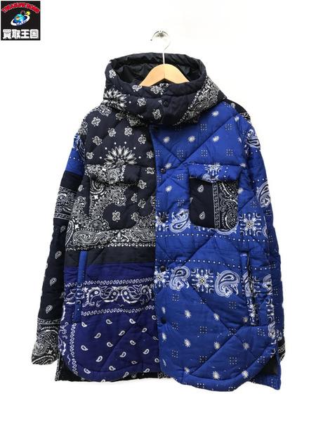 SEVESKIG セヴシグ バンダナCPOジャケット ブルー /【中古】
