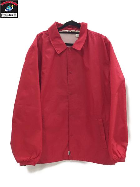 GOODENOUGH バックプリントコーチジャケット RED XL【中古】