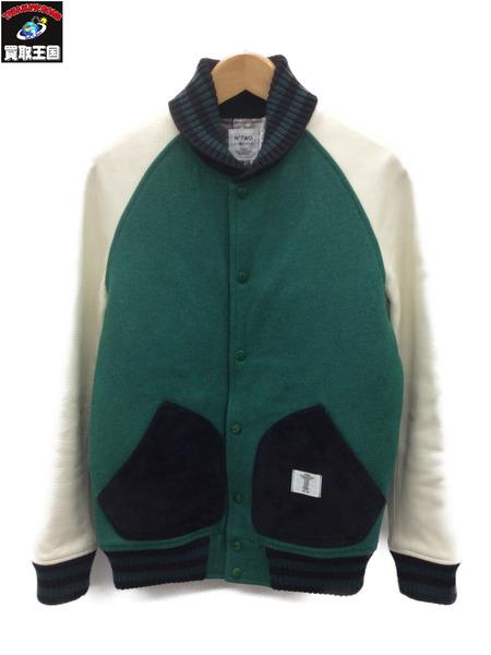 ベドウィン アンド ザ ハートブレイカーズ 13AW スタジアムジャンパー (2) 緑×白【中古】