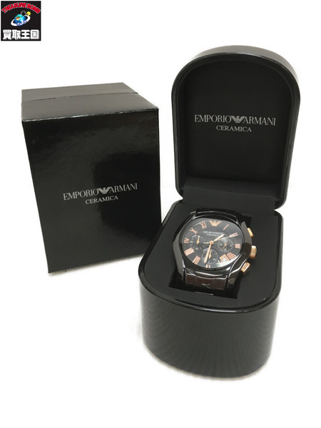 EMPORIO ARMANI クロノグラフ 腕時計 AR-1410【中古】