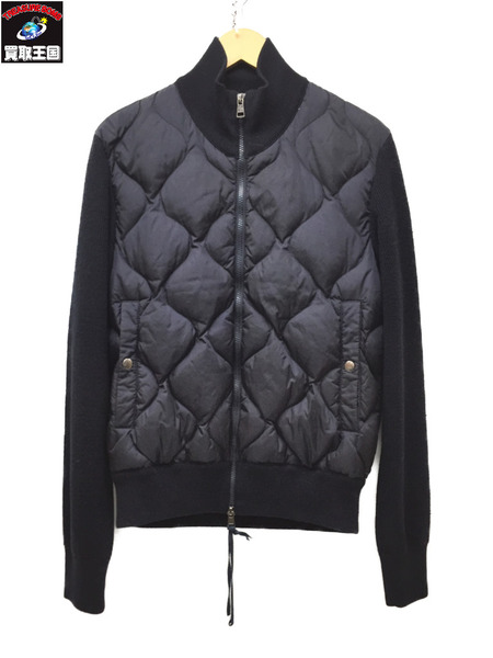 MONCLER Maglione Tricot Cardigan モンクレール ニット切替 ダウンジャケット NAVY S【中古】[▼]