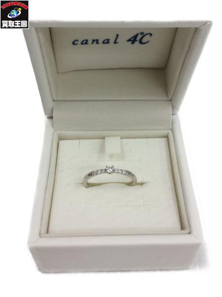 canal4℃ カナル4 ℃K18WG ダイヤモンドリング 総重量1.90g【中古】