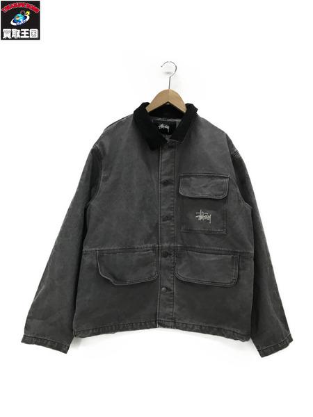 STUSSY 20SS WASHED CHORE JACKET L カバーオール 【中古】