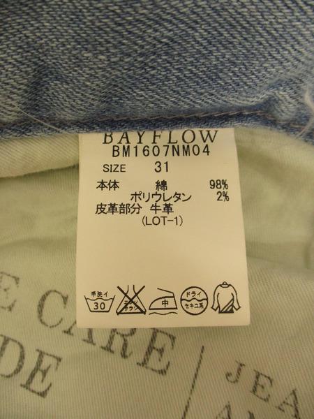 BAYFLOW リペア テーパードパンツ31NvnwmO08