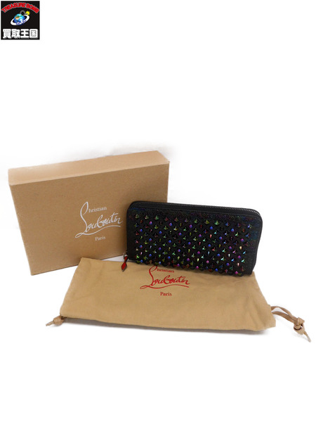 Christian Louboutin クリスチャンルブタン W PANETTONE WALLET SCARABEE BROK/SPIKES【中古】