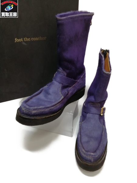 foot the coacher/ハラコブーツ/9/PUR【中古】[▼]