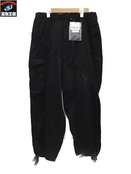 B Yohji Yamamoto 17AW 変形ミリタリードロストパンツ size3 BLK【中古】
