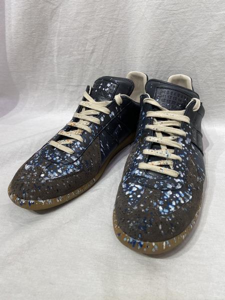 Maison Margiela 22/Paint Drop Sneakers/43/ブラック/ペイントジャーマントレーナー【中古】