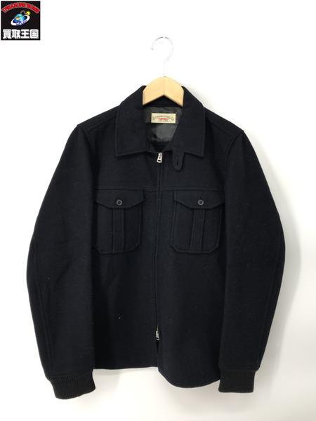 STEVENSON OVERALL CO. ウールZIPジャケット ネイビー(36)【中古】