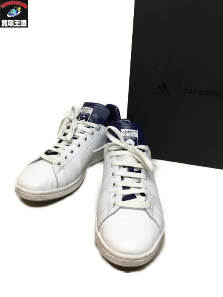 adidas×RAF SIMONS スタンスミス ネイビー (26.5cm)【中古】[▼]