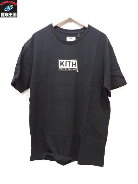 KITH TREATS PROOF OF PURCHASE BOX LOGO TEE L キス ティーシャツ 黒【中古】