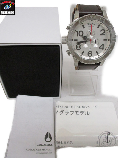 NIXON 51-30 SIMPLIFY CHRONO THE 51-30 CHRONO NIXON レザーベルト クロノグラフ 腕時計【中古】, APS-ipp:eacffa0c --- officewill.xsrv.jp