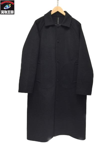 RYU Virgin Wool Bonding Coat Black 4 ヴァージンウールコート【中古】