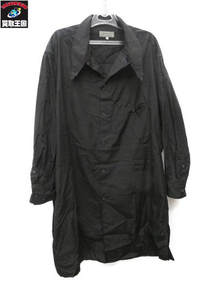 Yohji Yamamoto/スタンドダブルループセミロングシャツ/M【中古】