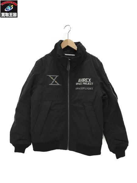 AVIREX TYPE MA-1/GT-10 フライトジャケット ブラック L【中古】