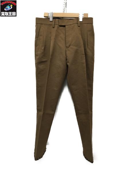 TOGA VIRILIS Poly wool bonding pants ベージュ 48【中古】