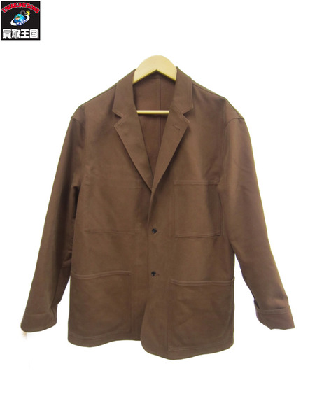 graphpaper 18aw Cotton Double Cloth Jacket ブラウン 1【中古】