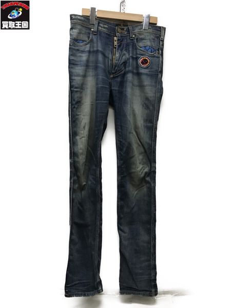 Vivienne Westwood ANGLOMANIA×Lee ワッペンパッチデニムスキニー【中古】