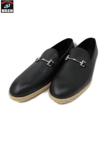 foot the coacher/BORN BIT LOAFER/黒【中古】