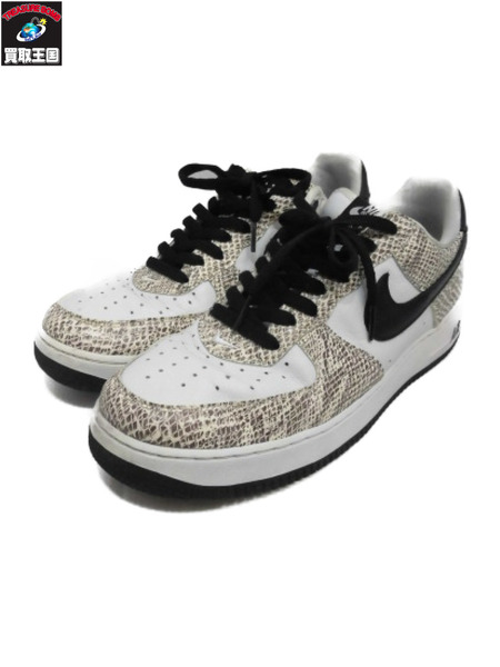 NIKE AIR FORCE 1 LOW COCOA SNAKE/白蛇 28.0cm 845053-104【中古】
