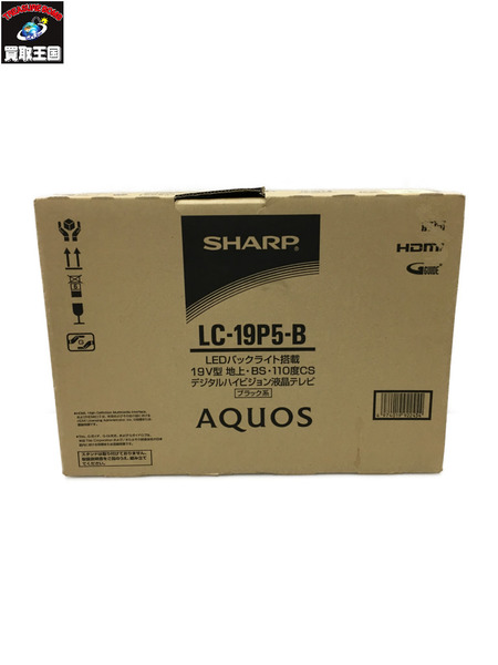 SHARP AQUOS テレビ テレビ AQUOS 19V型 LC-19P5-B 19V型【中古】, 石田精華園:a9e16e03 --- officewill.xsrv.jp