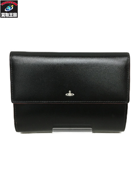 Vivienne Westwood SIMPLE TINY ORB 口金折財布 BLK【中古】