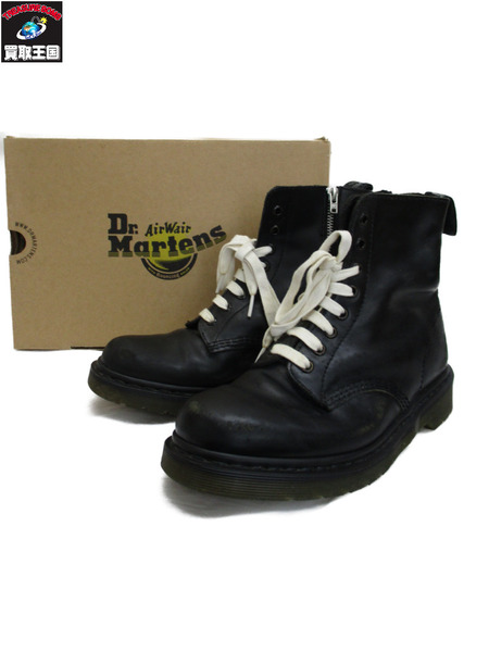 Dr.Martens×unsqueaky 8ホール ダメージ加工サイドジップブーツ【中古】[▼]