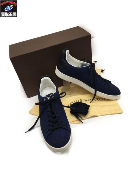 LV ローカットスニーカー Size7 1/2 BLU×BLK ルイ ヴィトン シューズ 靴【中古】