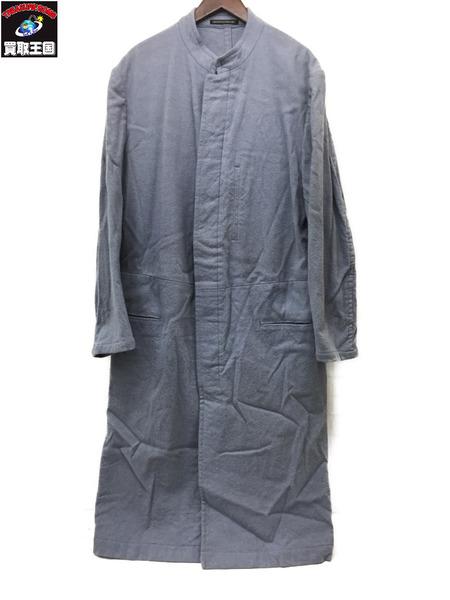 Yohji Yamamoto ヨウジヤマモト ウール混コート size3 水色【中古】