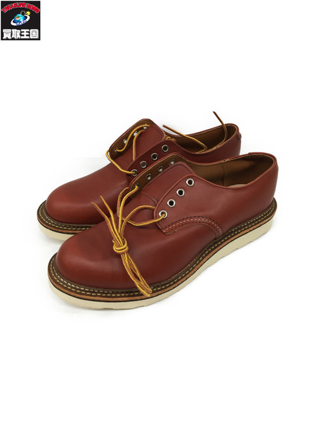 RED WING WORK OXFORD ROUND TOE (US9) ブラウン【中古】