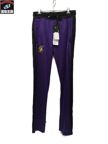 MARCELO BURLON NBA トラックパンツ S 黒×紫【中古】[▼]