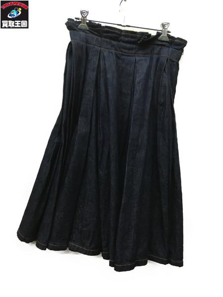tricot COMME des GARCONS デニムギャザースカート インディゴ【中古】[▼]