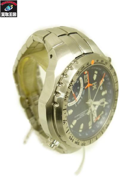 TIMEX TIMEX タイメックス タイメックス フライバッククロノ デュアルタイムゾーン クォーツ腕時計【中古】, 座間市:3a477d31 --- officewill.xsrv.jp