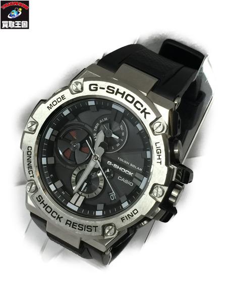 CASIO G-SHOCK GST-B100 G-STEEL SILVER カシオ ジーショック Gショック 腕時計 クロノグラフ ウォッチ タフソーラー ウォッチ【中古】[▼]