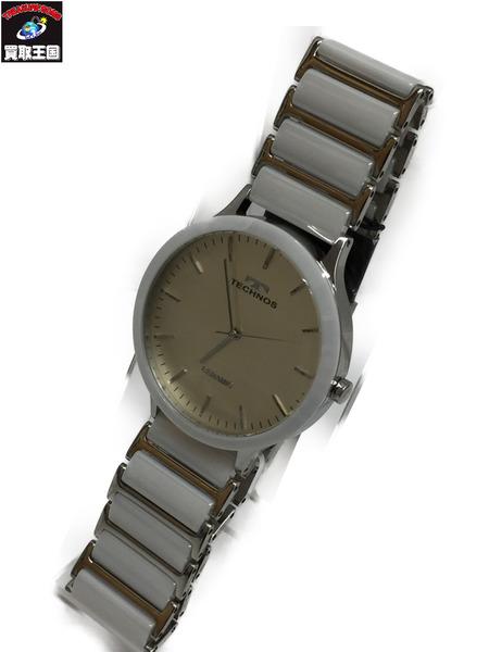 TECHNOS T9516TW クォーツウォッチ テクノス 腕時計【中古 TECHNOS テクノス】, サプリメントファン:ad249f8c --- officewill.xsrv.jp
