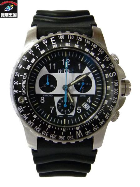 nite ナイト クロノグラフ ラバーバンド 腕時計【中古】
