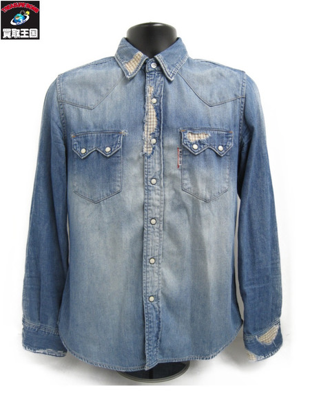 BLUE BLUE ブルーブルー リメイクデニムシャツ(2)【中古】