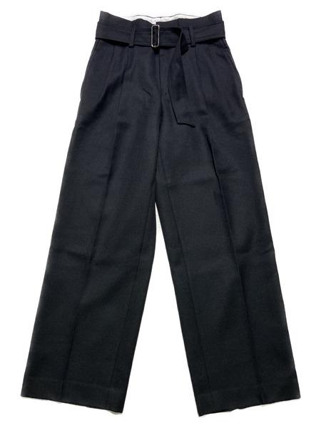 UNUSED/16AW/BELTED SLACKS PANTS/BLK【中古】