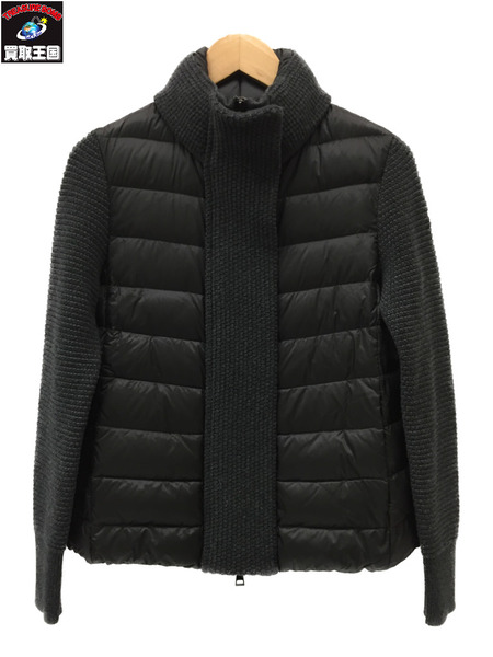 MONCLER MAGLIONE TRICOT ダウンジャケット XS グレー【中古】[▼]
